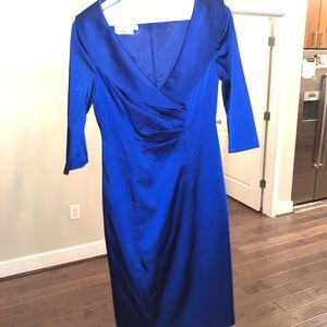 Kay Unger New York Cocktail Dress Blue 2